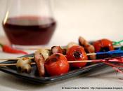 l'ora delle Tapas Piccoli spiedi pomodorini pinot grigio, pancetta affumicata funghetti alla piastra