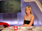 """Myrta Merlino terza edizione """"L'Aria tira"""". ospiti della prima puntata Mario Monti Rosario Crocetta"""