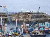 costa concordia torna asse all'alba video timelaps