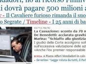 Berlusconi dovrà pagare mezzo miliardo Mondadori
