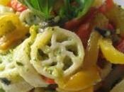 Pasta zucchine crema peperoni