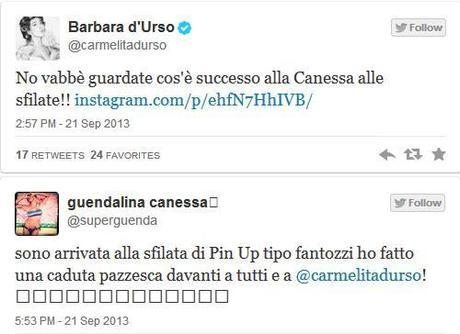 Guendalina Canessa cade sulla passerella della Milano Fashion Week #sbam