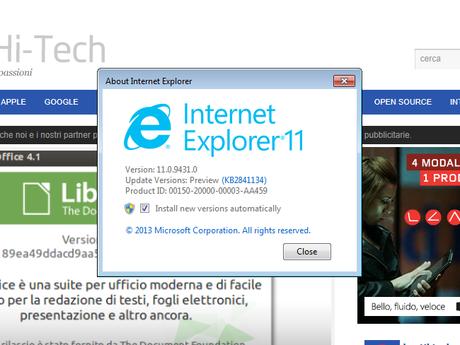 disinstallare Internet Explorer 11
