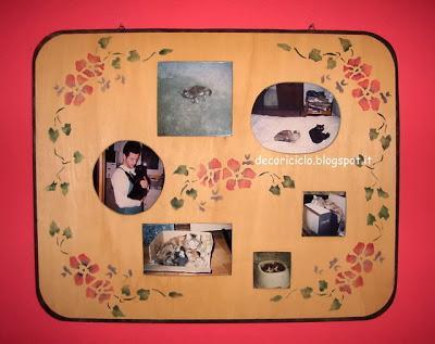 I nostri gatti portafoto da parete traforo e stencil - Portafoto da appendere ...