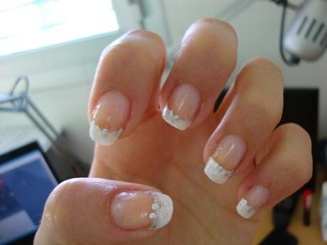 Swatch] e [Review] French Manicure Gel Nails at Home. - Paperblog