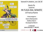 """Presentazione libro Franca Rame FUGA SENATO"""" Chiarelettere edizioni"""