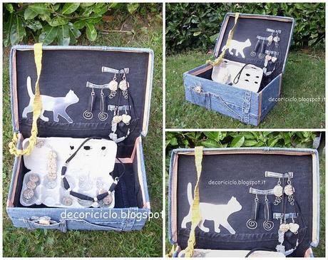 Porta bijoux fatto con una scatola da scarpe e ritagli di - Scatole porta scarpe ...