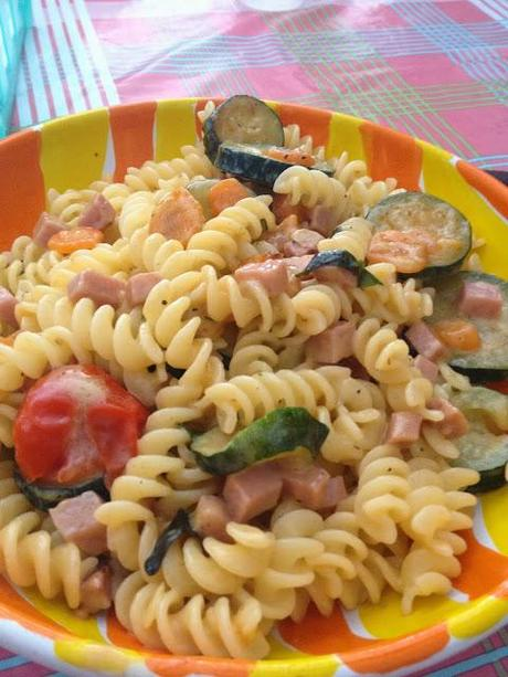 Fusilli con fantasia di ingredienti!