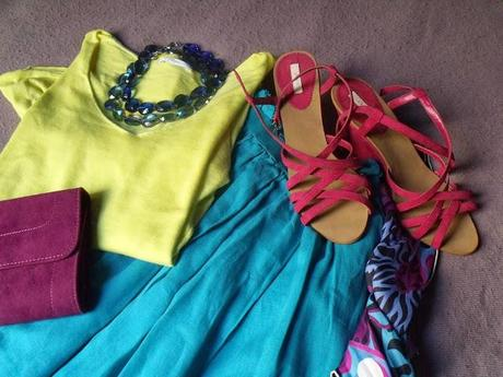 OUTFIT # 19 - YELLOW AND BLUE & EMILIO PUCCI