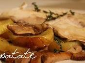 Branzino forno patate funghi porcini