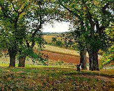 Pissarro, Camille, Les chataigniers a Osny (The Chestnut Trees at Osny), 1873.jpg