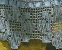 Schemi per il filet bordi per asciugamani colorati for Bordi uncinetto per asciugamani