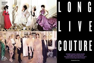 LONG LIVE COUTURE... by Simon Proctor for V MAGAZINE #65