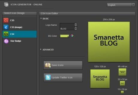 Generatore online di icone in stile adobe css e web2 0 for Generatore di piano di pavimento online gratuito