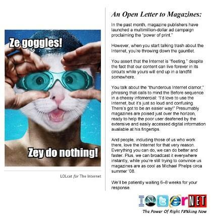 An Open Letter to Magazines From the Internet