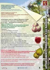 Frutticoltura: dal 27 al 30 maggio 2010 se ne parla alla Fondazione Navarra di Malborghetto di Boara (Fe)