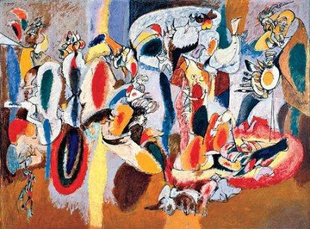 Arshile Gorky – 1944 - The Liver is the Cock's Comb, Albright-Knox Art Gallery in Buffalo, N.Y .