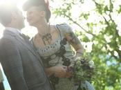 Carmen Claudio, matrimonio retro roll