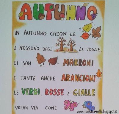 Autunno poesia illustrata paperblog - Poesie primaverili per la scuola materna ...