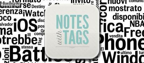 notes with tags header