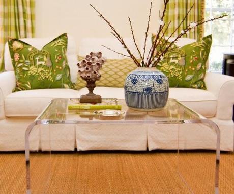 Tavolino salotto moderno in plexiglass trasparente con spedizione ...