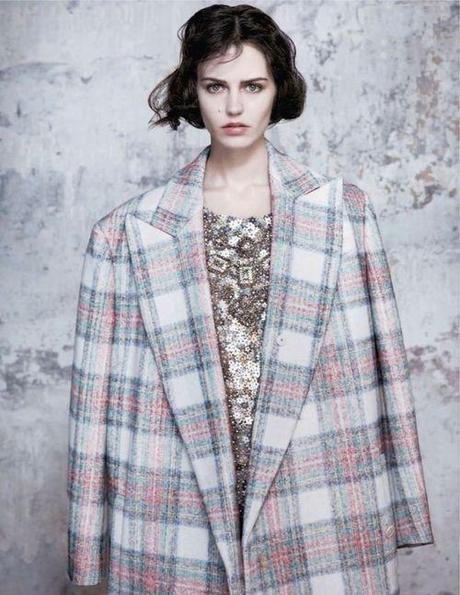 Oversized checked coat, Stella McCartney