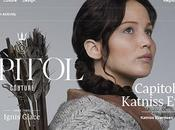 intensa Katniss Everdeen Jennifer Lawrence nuovo numero Capitol Couture