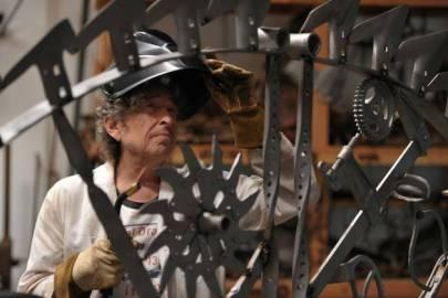 Bob Dylan - Bob's iron sculpture