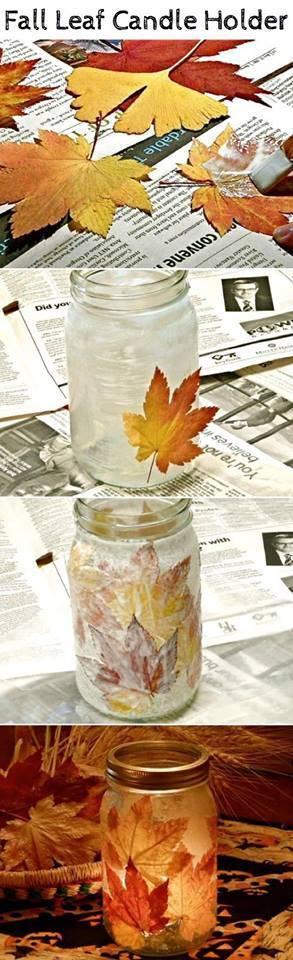 fall-leaf-candle-holder