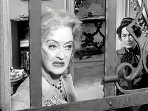 Cropped screenshot of Bette Davis and Joan Cra...