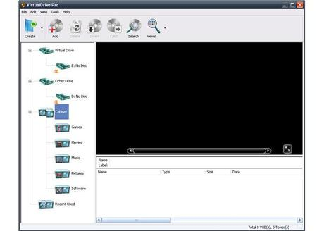 virtualdrive 6 VirtualDrive Pro Manager 16 Gratis con Licenza: Emulatore virtuale di CD e DVD [Windows App]