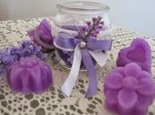 Candela vasetto formine cera gesso.....adoro color lilla!!!!