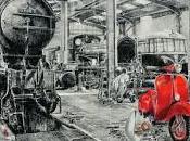 """proposito """"Viaggio tempo"""" mostra Angiolo Volpe Museo Piaggio, curata Riccardo Ferrucci servizio Toscana"""