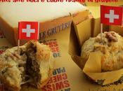 Swiss Cheese Parade: Muffins alle Noci cuore filante Gruyère (Walnut Muffins)