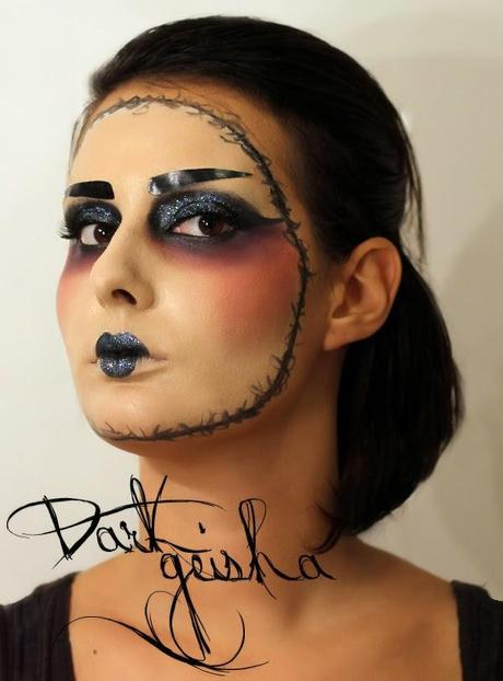 HALLOWEEN MAKEUP: Dark Geisha