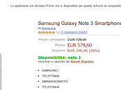 Samsung Galaxy Note Garanzia Italia disponibile euro Amazon
