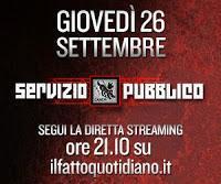 Servizio Pubblico del 31 ottobre. Diretta streaming