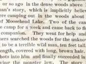 """Maine, 1886: """"Abbattuto Uomo-scimmia"""""""