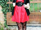 Outfit: abito rosso gonna ruota