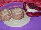 Sformatino ricotta radicchio fonduta gorgonzola