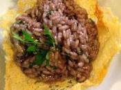 Ricetta: RISOTTO PORCINI VINO ROSSO MONTALCINO cestino parmigiano
