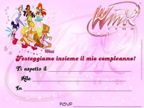 Winx invito di compleanno paperblog for Crea il mio piano personale gratuito