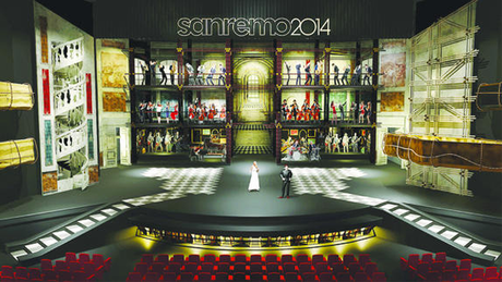La scenografia di Sanremo 2014