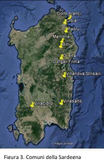 Fig.3: Comuni della Sardegna