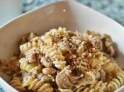 Fusilli alle sbrise nocciole with oyster mushrooms hazelnuts
