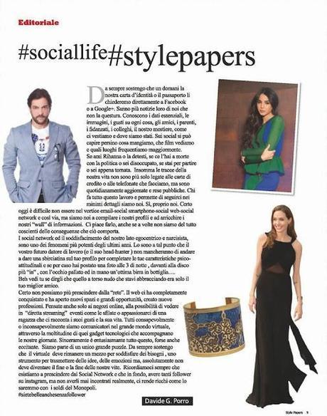 Style papers n 16 la vita social di chiara biasi
