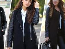 trend: cappottino maniche pelle