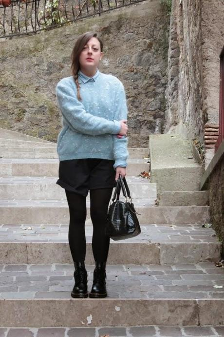 Blu sweater + Dr. Martins - OUT-FIT
