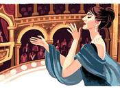 """Divina"""" Maria Callas doodle Google"""