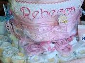 torta pannolini gemellare MASCHIO FEMMINA BICOLOR